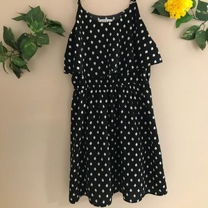 Elle Black & white polka dot spaghetti strap dress